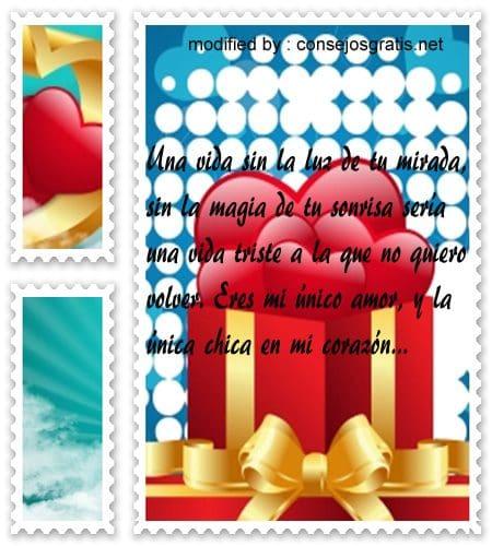 Frases de amor para mi novia,bellos textos de amor para mi pareja