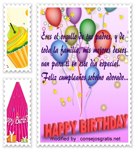 palabras de cumpleaños para mi sobrino,saludos de cumpleaños para mi sobrino