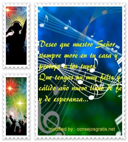 mensajes de Ano Nuevo,saludos cristianos por Año Nuevo
