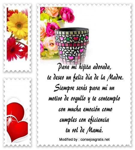 Lindas tarjetas por el Da de la Madre a mi hija  Saludos por el