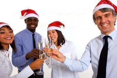 Mensajes corporativos de Navidad con imágenes