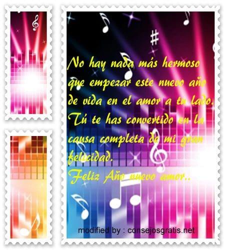 mensajes de Ano Nuevo,dulces frases de feliz Año Nuevo para mi amor