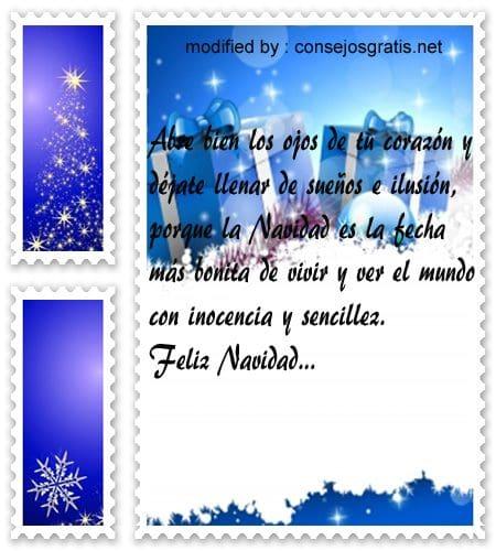 postales de mensajes de Navidad,pensamientos de amor para compartir en la noche de Navidad