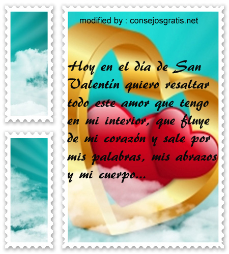 Pensamientos para San Valentin,palabras bonitas por el dia del amor