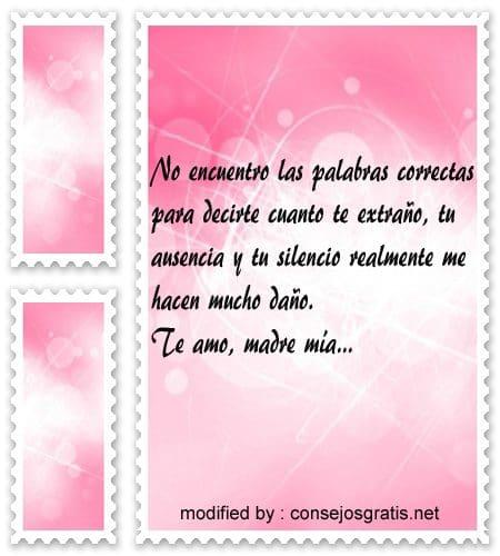 Frases para Madres fallecidas,pensamiento para recordar en el dia de la Madre a Madres fallecidas