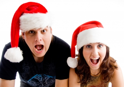 Tarjetas y frases de Navidad para novios