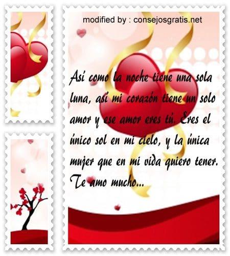 Mensajes de amor para mi novia,textos bonitos para mi novia por el dia del amor