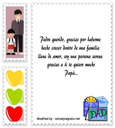 Mensajes Bonitos Para Agradecer A Mi Padre Frases De