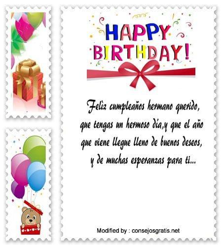 Bonitos Saludos De Feliz Cumpleaños Para Mi Hermano Frases