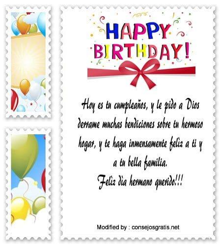 Bonitos Saludos De Feliz Cumpleaños Para Mi Hermano Frases De