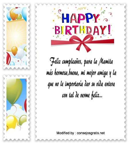 Bellos Saludos De Cumpleaños A Mi Madre Mensajes De