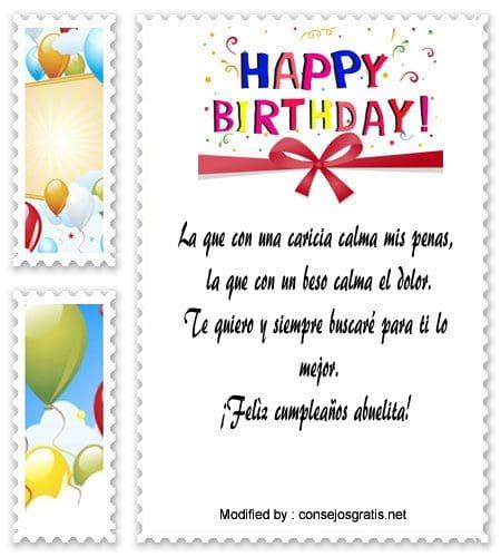 Bonitas Dedicatorias Para Tu Abuela En Su Cumpleaños Saludos De