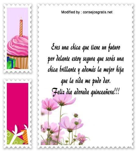 sms para saludar a quinceañera,textos de feliz cumpleaños para saludar a quinceañera