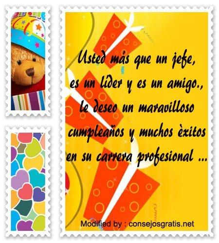 Tarjetas Con Bonitos Saludos De Cumpleaños Para Mi Jefe Consejosgratis net