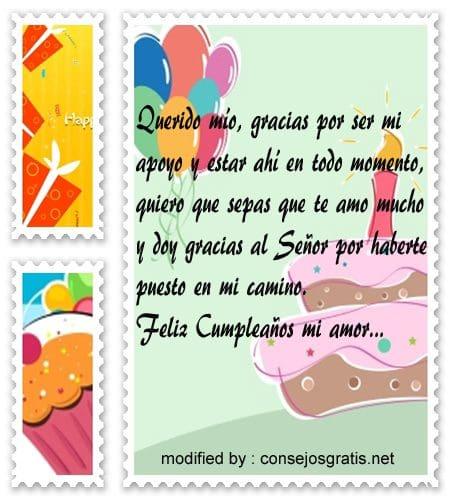 Bonitos Textos De Feliz Cumpleanos Para Mi Esposo Con Imagenes