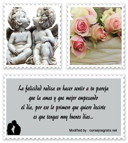 Originales Mensajes De Buenos Dias Para Mi Novia Frases De Amor