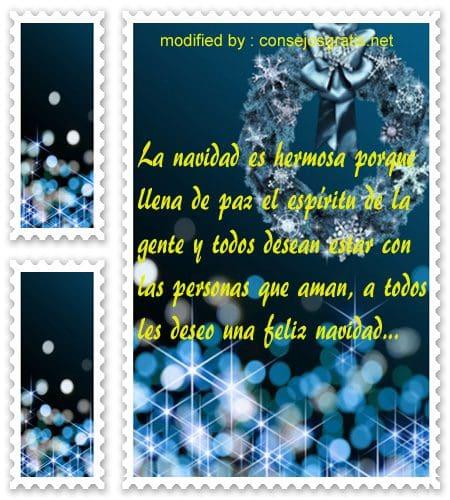 postales de mensajes de Navidad,textos bonitos Navideños para facebook