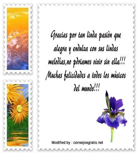 bonitas felicitaciones por el dìa del mùsico,textos por el dìa del mùsico