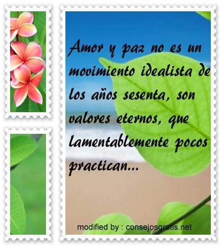 Lindas Frases De Amor Y Paz Con Imágenes Consejosgratisnet