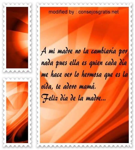 Bellos mensajes para el dia de la madre,bellas dedicatorias para enviar en el dia de la madre
