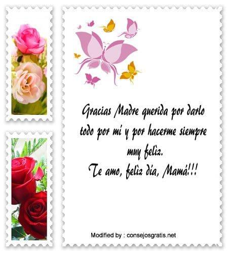 extos para el dia de la Madre,dedicatorias para el dia de la Madre