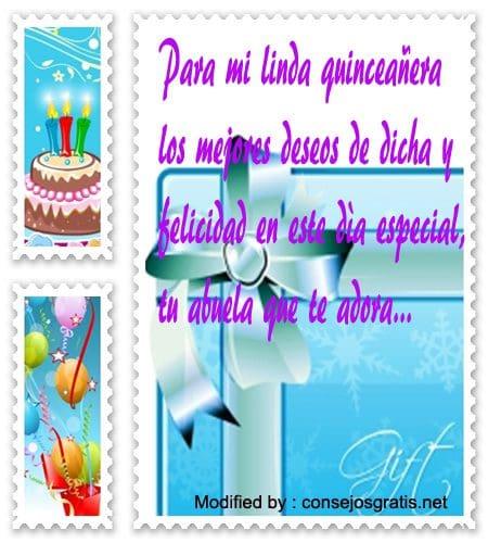 Tarjetas De Cumpleaños Para Mi Nieta Quinceañera 10000 Mensajes