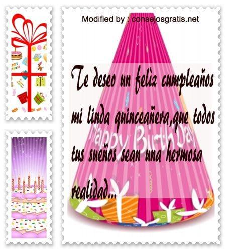 Tarjetas De Cumpleaños Para Mi Nieta Quinceañera