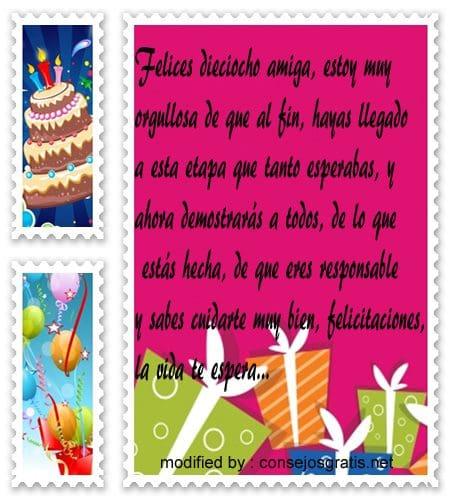 Postales Bonitas Con Frases Para Felicitar Por Tus 18 Años