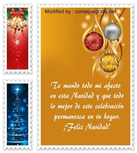 tarjetas con mensajes bonitos para Navidad
