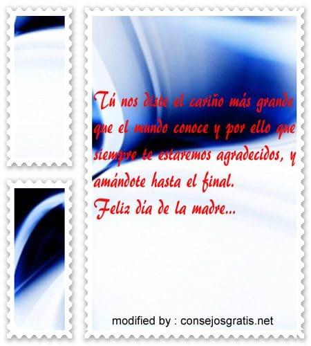 Dulces mensajes para el dia de la Madre,postera bellas frases en facebook por el dia de la Madre