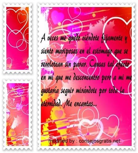 mensajes de amor,palabras bellas para enamorar un hombre