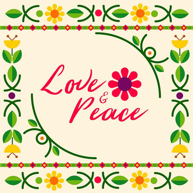 mensajes de paz y amor